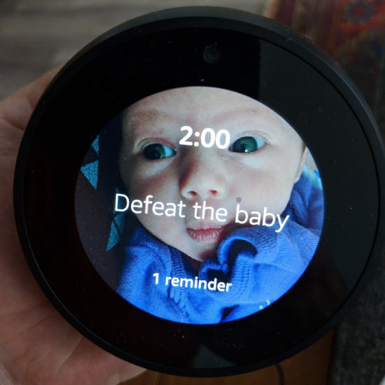 Alexa: Remind me to feed the baby