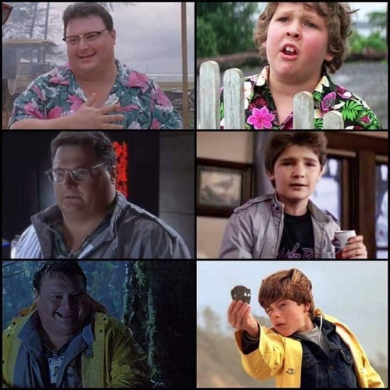 Mind blown! Was Jurassic Park's Dennis Nedry secretly cosplaying as characters from the Goonies?