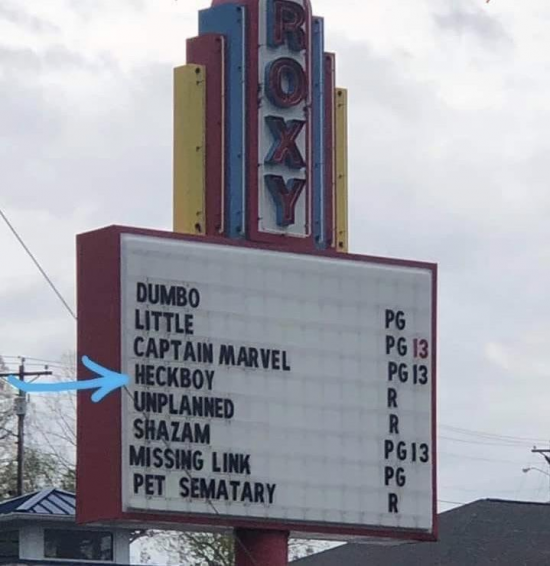 The local small town theater.