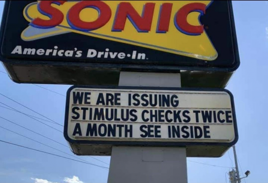 "This variation of the ""now hiring"" sign at my local sonic"