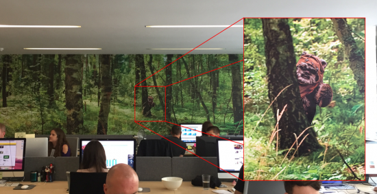 We have a wallpaper forest on one of the walls at work. I wonder how long till the boss notices my upgrade.