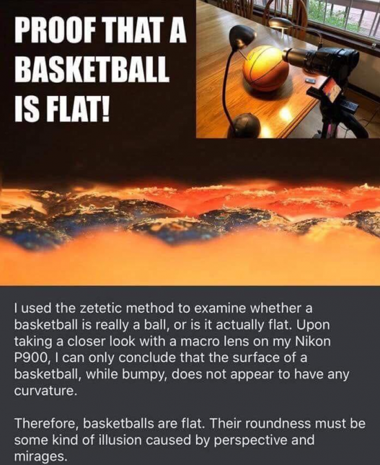 Basketballs are flat