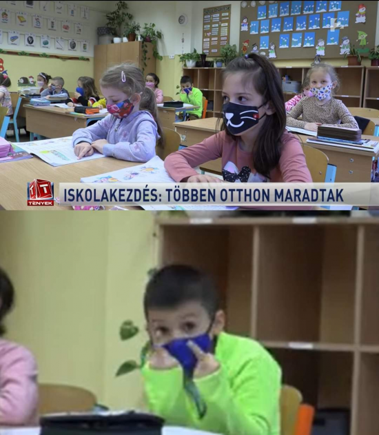 Hungarian news channel was talking about school reopening and: